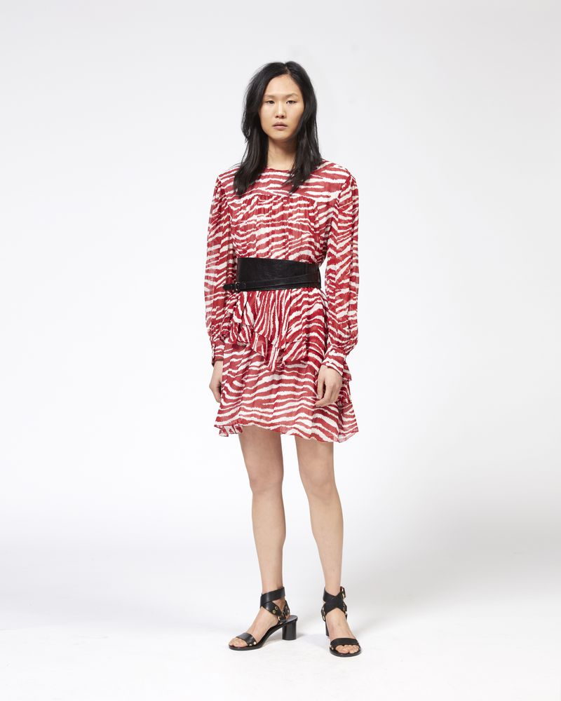 JAVA short dress in printed georgette ISABEL MARANT ÉTOILE