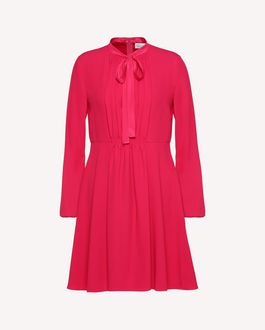 REDValentino Satin-backed Crêpe Dress