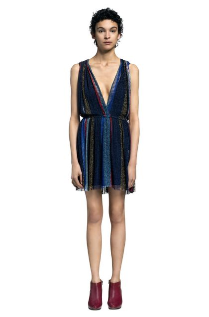 MISSONI Dress Dark blue Woman - Back