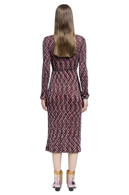 MISSONI Dress Purple Woman - Front