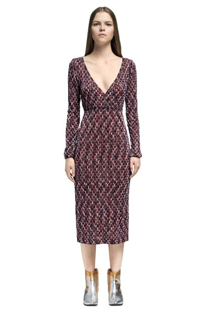 MISSONI Dress Purple Woman - Back