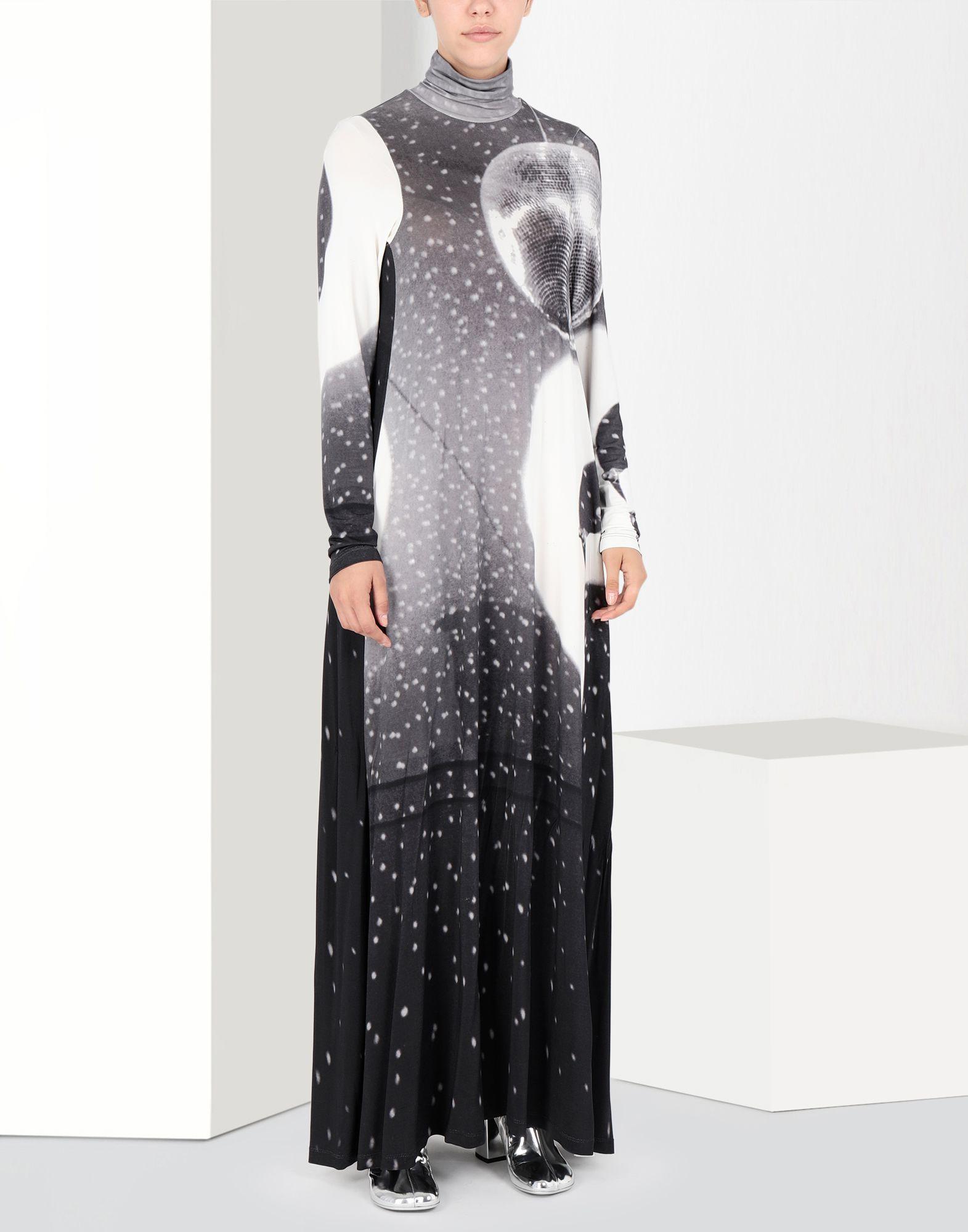 MM6 MAISON MARGIELA Reflex print long dress Long dress Woman f
