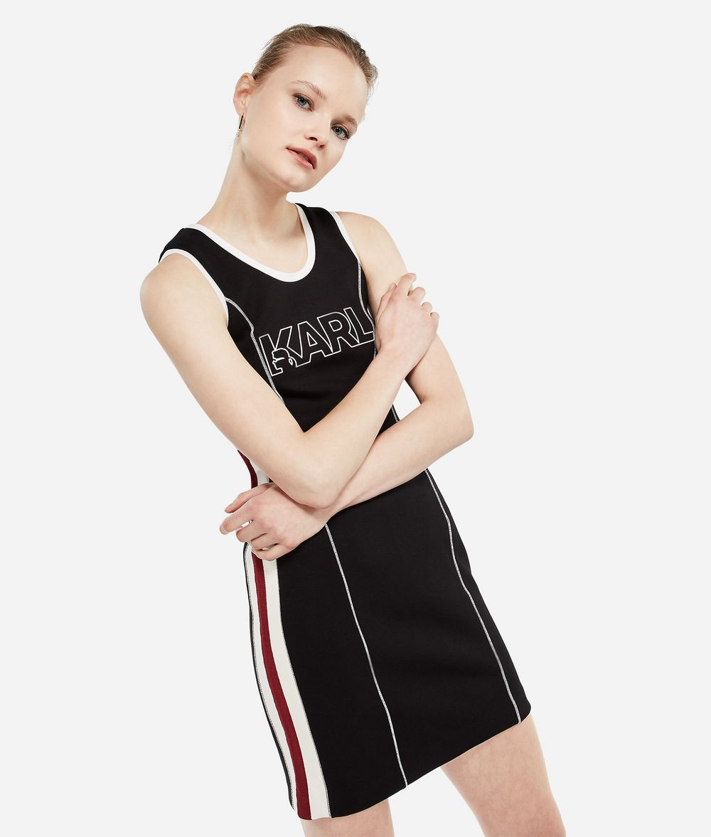 KARL LAGERFELD Karl X Kaia Jersey Dress Dress Woman f