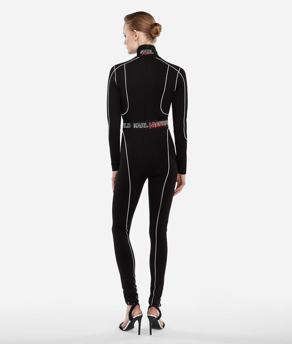 KARL LAGERFELD Karl X Kaia Jersey Catsuit Jumpsuit Woman d