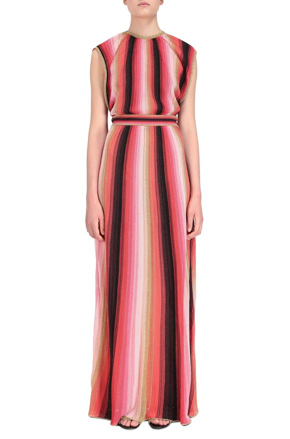 M MISSONI Langes Kleid Damen, Frontansicht