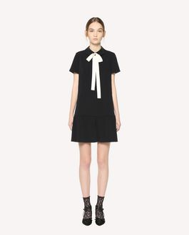 REDValentino Stretch Frisottine dress with rounded collar and bow