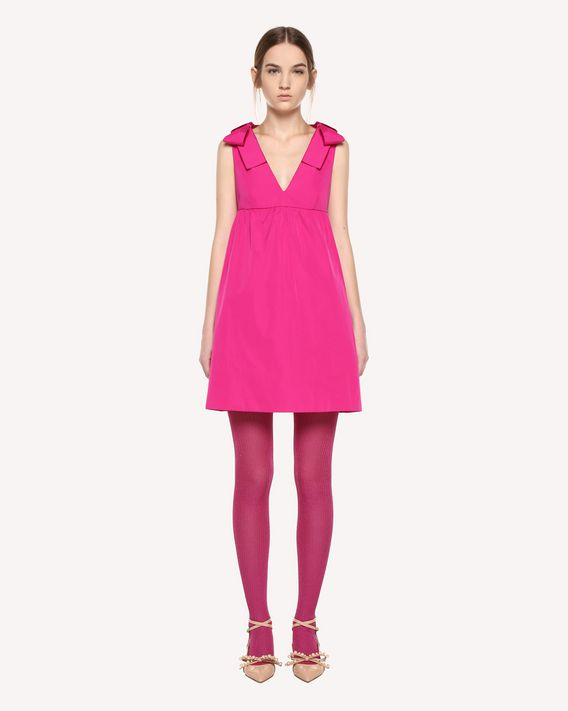 REDValentino Taffeta twill dress with bow details