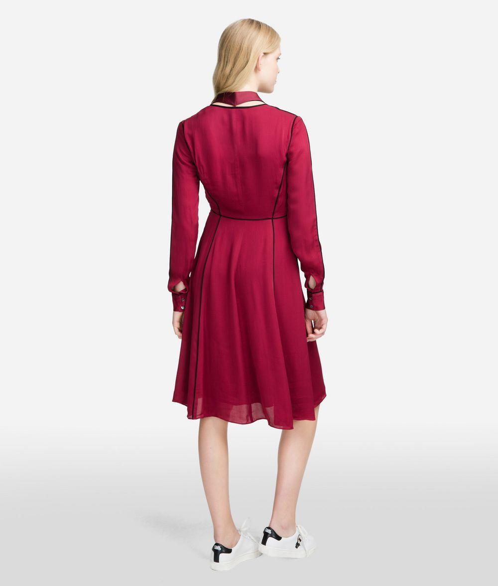 KARL LAGERFELD Seidenkleid mit Logo-Schluppe Kleid Damen d