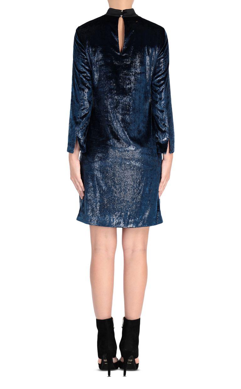 JUST CAVALLI Lurex velvet mini dress 3/4 length dress Woman d
