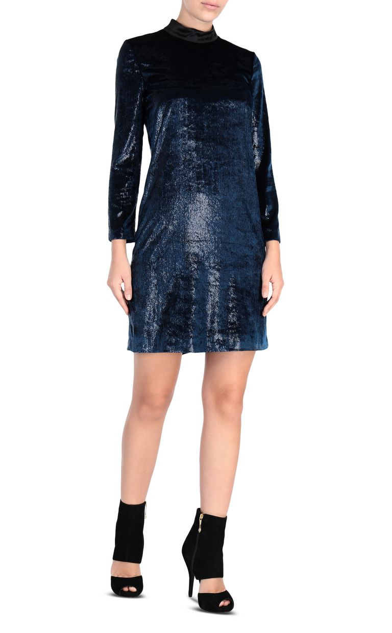 JUST CAVALLI Lurex velvet mini dress 3/4 length dress Woman f