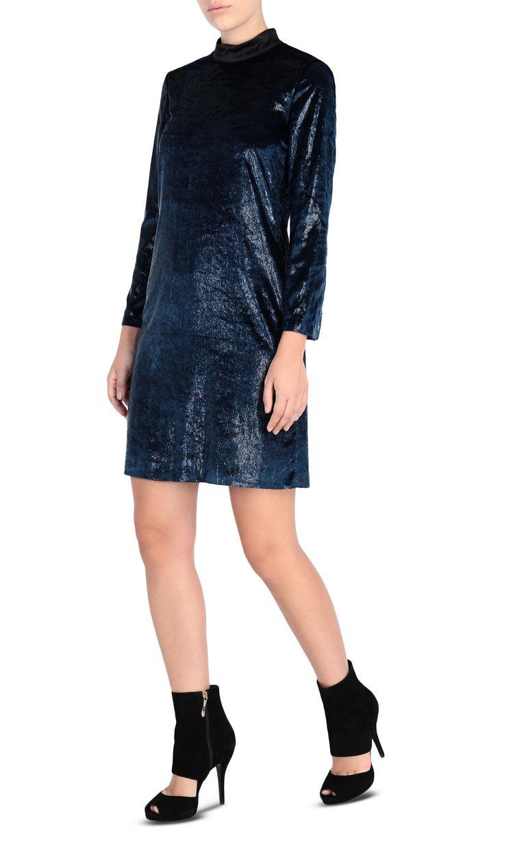 JUST CAVALLI Lurex velvet mini dress 3/4 length dress Woman r