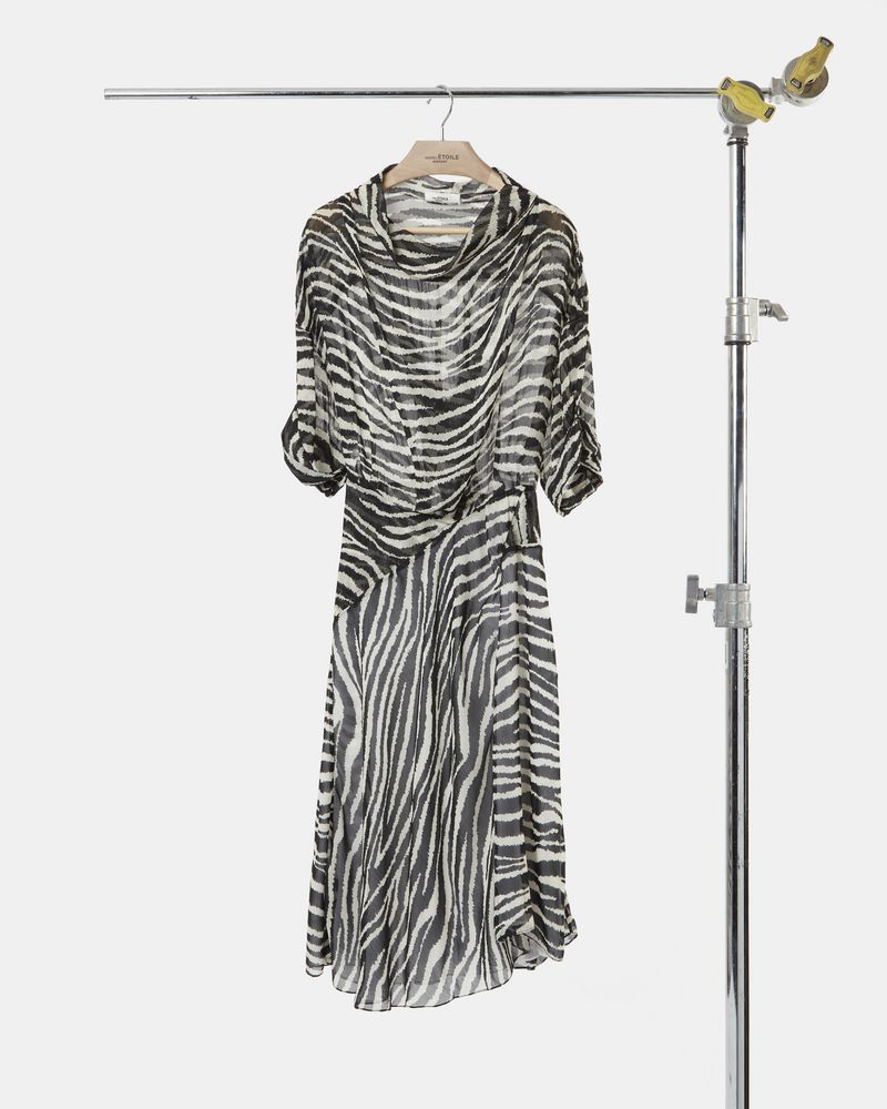 JUYANE mid-length dress in printed georgette ISABEL MARANT ÉTOILE