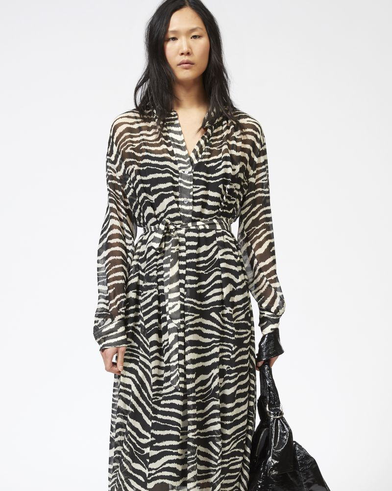 JOLY dress in printed georgette ISABEL MARANT ÉTOILE