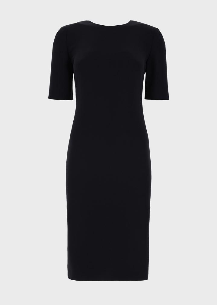 77851bbf22b1 Milano-knit jersey dress with side pleats