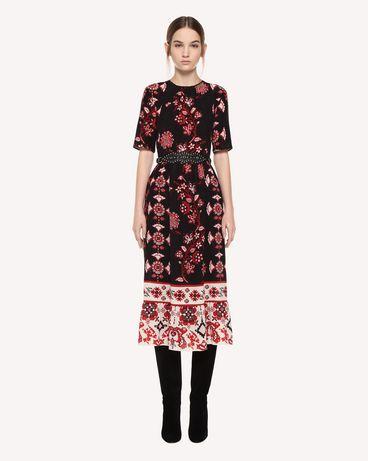 REDValentino Silk dress with Snow Flower Ramage print