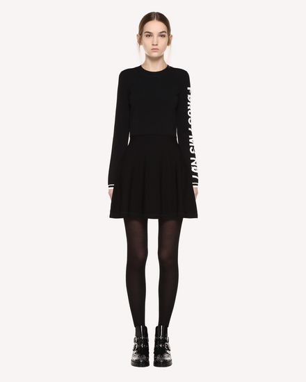 REDValentino Knit Dress Woman QR0KD102455 0NO f