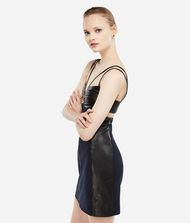 KARL LAGERFELD Karl X Kaia Leather Mix Dress 9_f