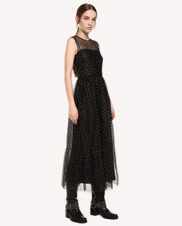 REDValentino Dress in Glitter Polka Dot Tulle