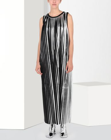 MM6 MAISON MARGIELA Long dress Woman Silver pleated long dress f