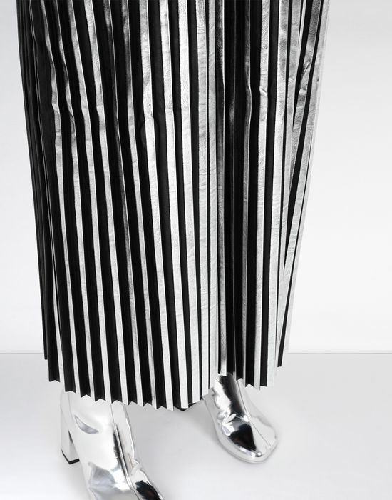 MM6 MAISON MARGIELA Silver pleated long dress Long dress [*** pickupInStoreShipping_info ***] a