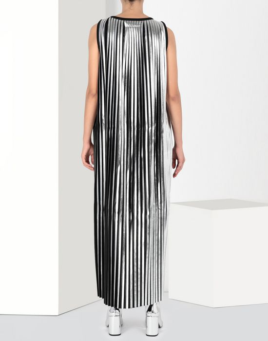 MM6 MAISON MARGIELA Silver pleated long dress Long dress [*** pickupInStoreShipping_info ***] d
