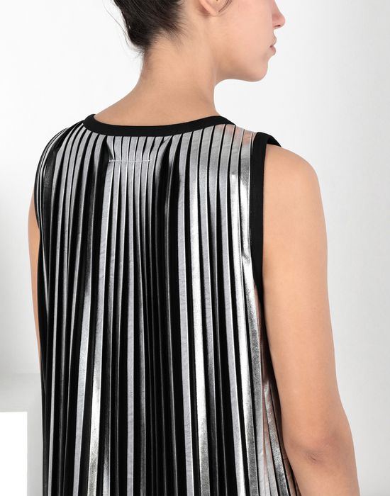 MM6 MAISON MARGIELA Silver pleated long dress Long dress [*** pickupInStoreShipping_info ***] e