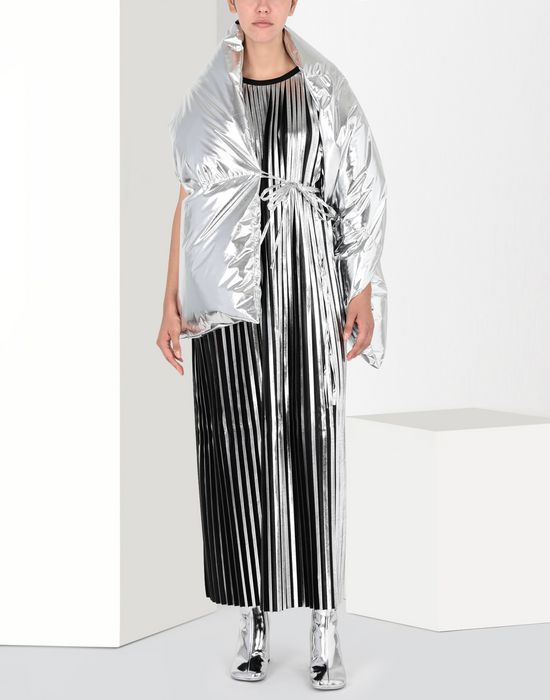 MM6 MAISON MARGIELA Silver pleated long dress Long dress [*** pickupInStoreShipping_info ***] r