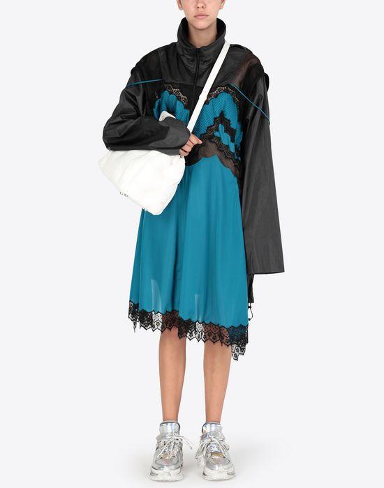 MAISON MARGIELA Two-tone techno taffeta midi dress 3/4 length dress [*** pickupInStoreShipping_info ***] d