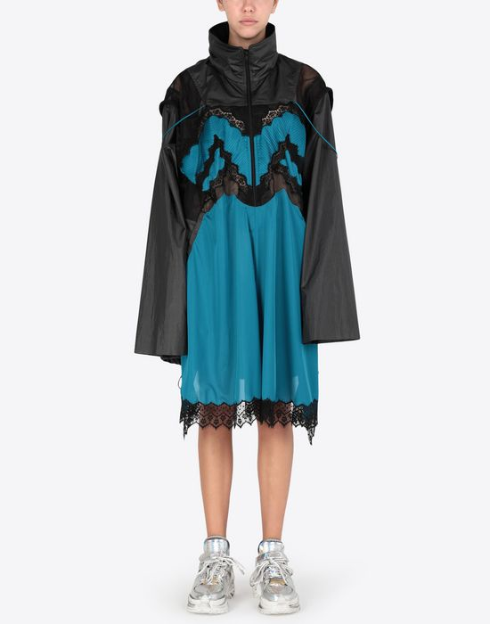 MAISON MARGIELA Two-tone techno taffeta midi dress 3/4 length dress [*** pickupInStoreShipping_info ***] r