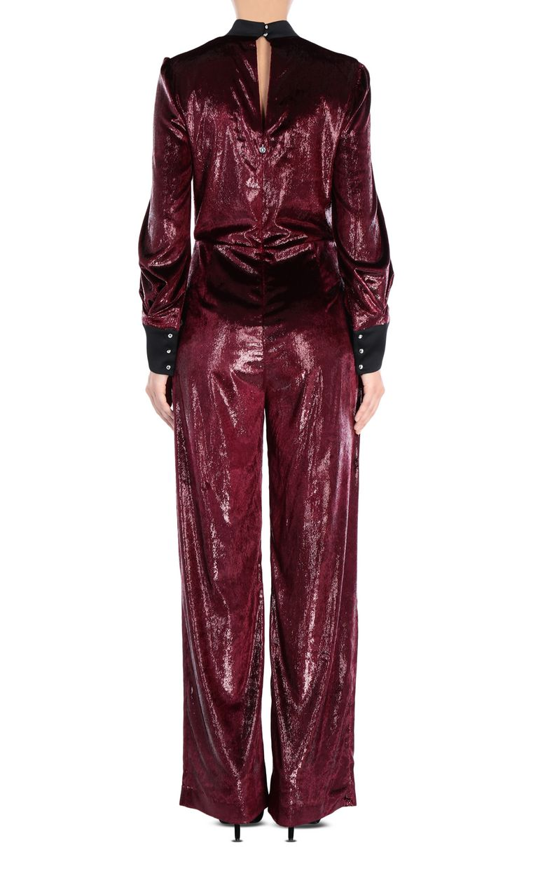 JUST CAVALLI Lurex velvet jumpsuit Jumpsuit Woman d