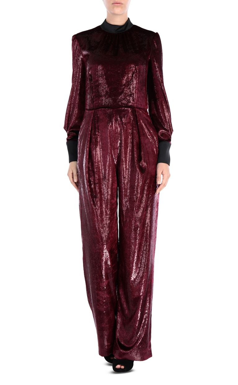 JUST CAVALLI Lurex velvet jumpsuit Jumpsuit Woman f