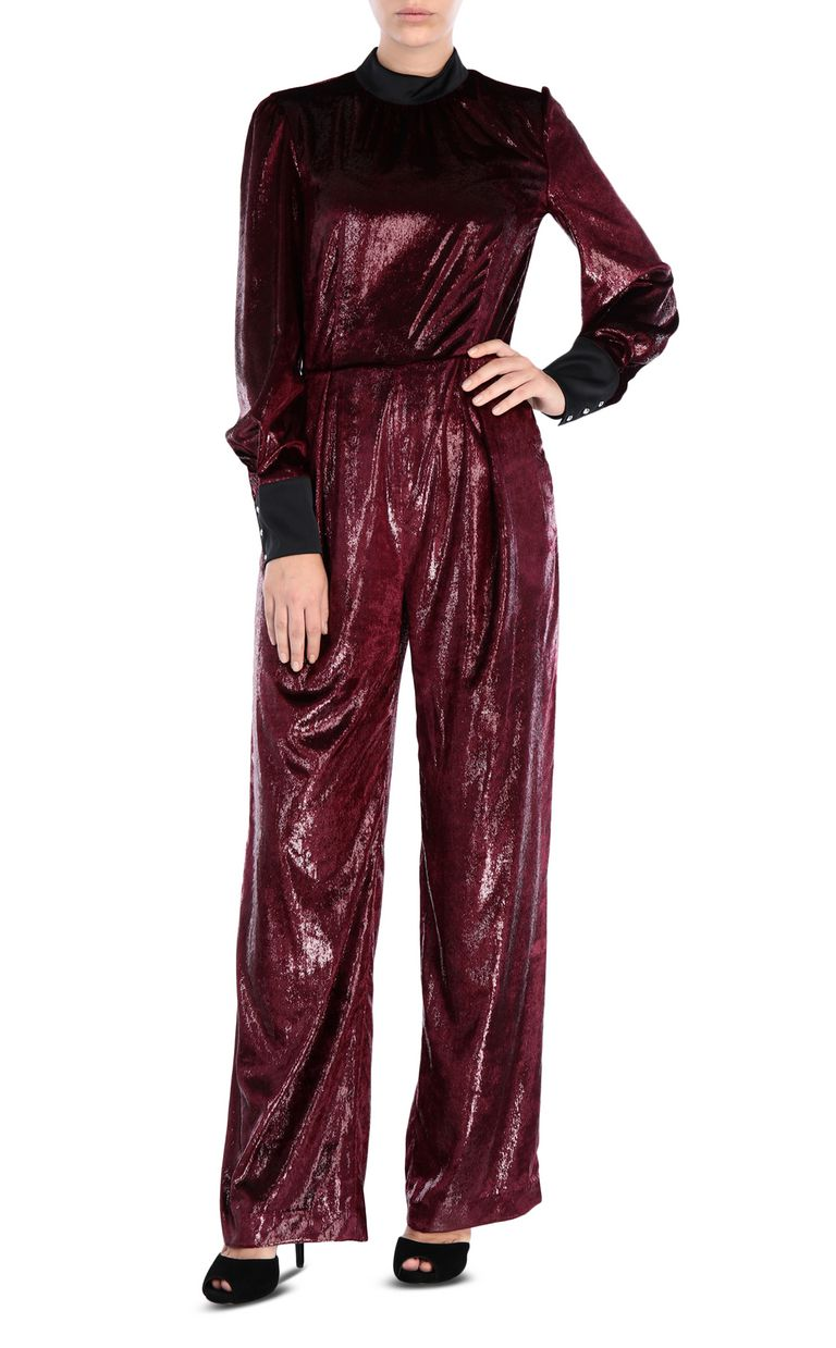 JUST CAVALLI Lurex velvet jumpsuit Jumpsuit Woman r