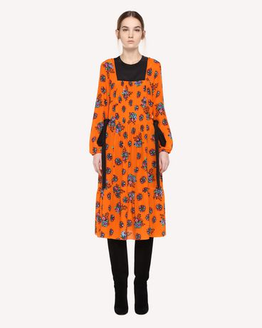 REDValentino Silk dress with Bright Flowers print