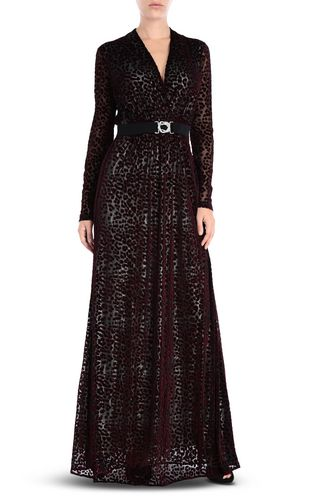JUST CAVALLI Long dress [*** pickupInStoreShipping_info ***] Eye Of The Peacock maxi dress f