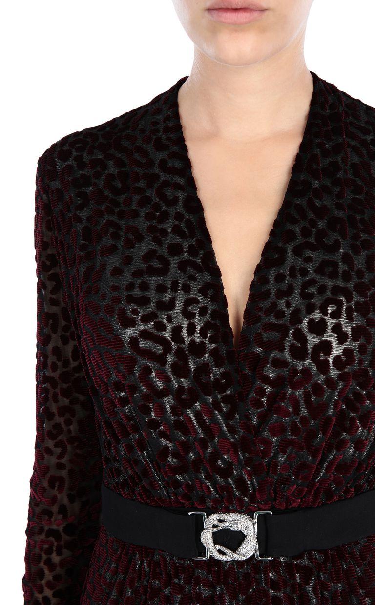 JUST CAVALLI Leopard-print maxi dress Long dress Woman e