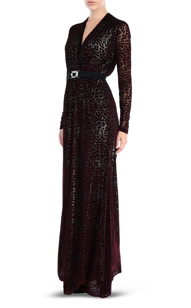 JUST CAVALLI Leopard-print maxi dress Long dress Woman r