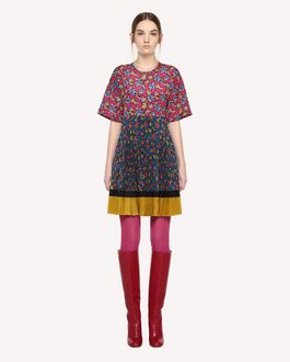 REDValentino Rose Ramage print crêpe de Chine dress