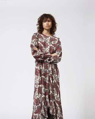 ISABEL MARANT LONG DRESS Woman JORJA printed dress r
