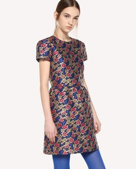 REDValentino Dress in Rose Ramage Jacquard