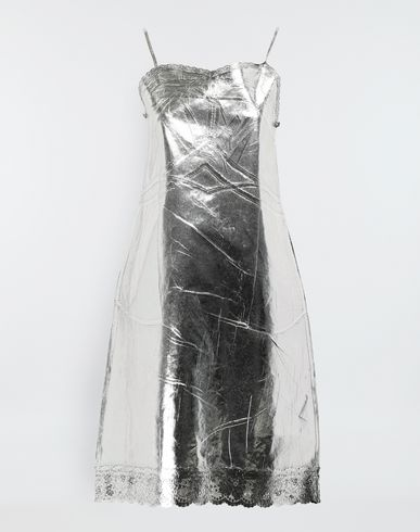 MM6 MAISON MARGIELA Silver midi strapped dress Short dress [*** pickupInStoreShipping_info ***] f