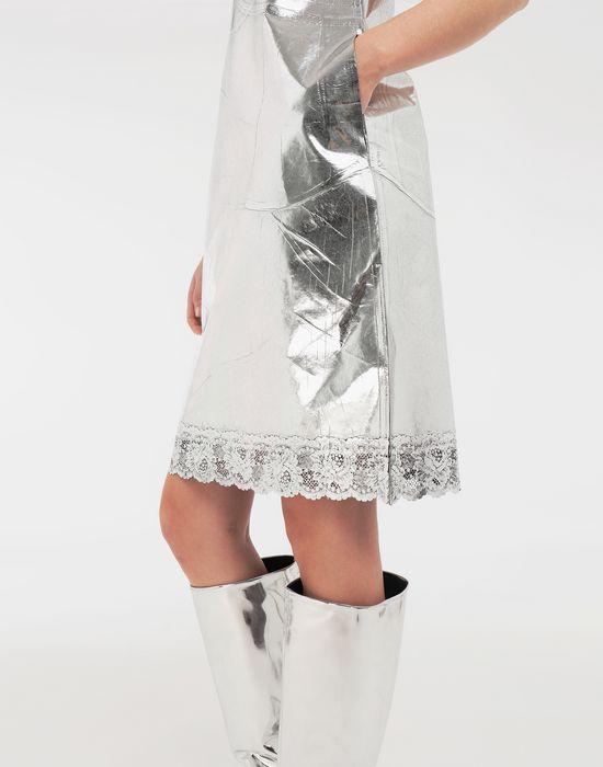 MM6 MAISON MARGIELA Silver midi strapped dress Short dress [*** pickupInStoreShipping_info ***] a