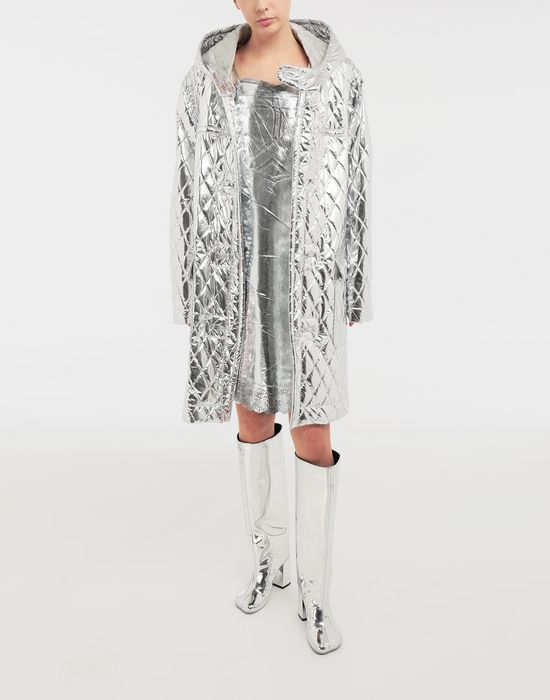 MM6 MAISON MARGIELA Silver midi strapped dress Short dress [*** pickupInStoreShipping_info ***] d
