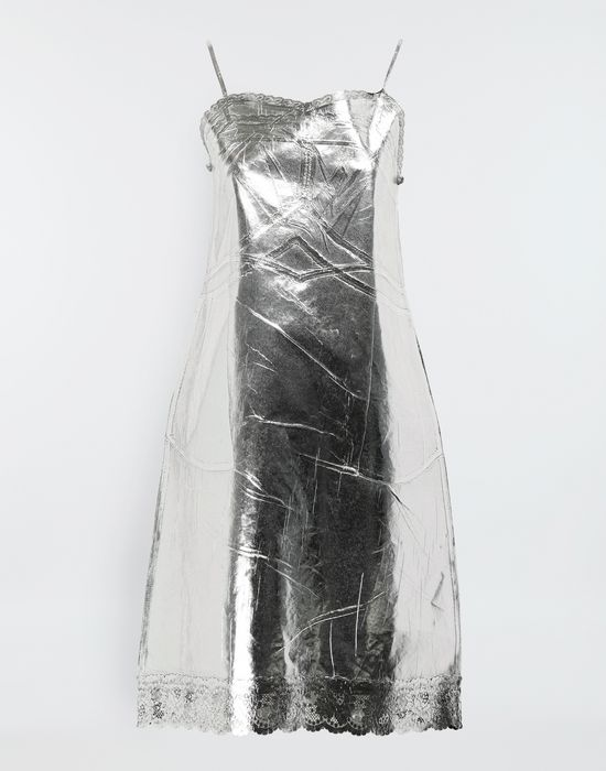 MM6 MAISON MARGIELA Silver midi strapped dress Short dress [*** pickupInStoreShipping_info ***] f