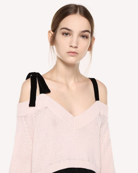 REDValentino Wool and point d'esprit tulle dress