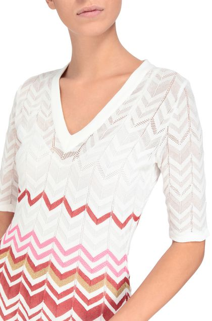 M MISSONI Dress White Woman - Front