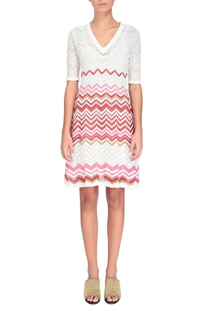 M MISSONI Dress White Woman - Back