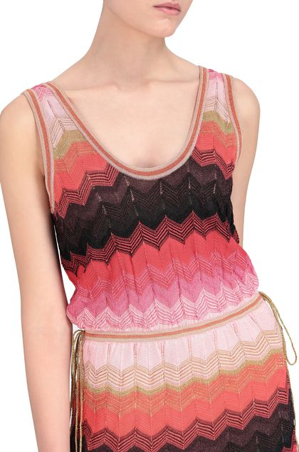 M MISSONI Long dress Coral Woman - Front