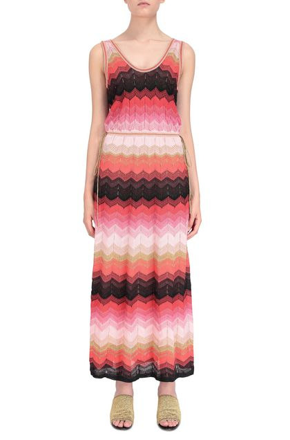 M MISSONI Long dress Coral Woman - Back