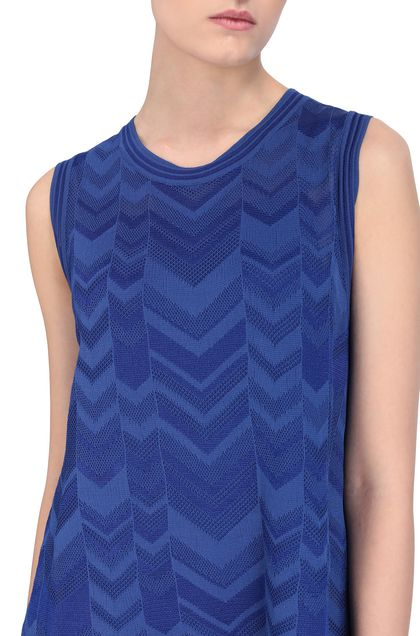 M MISSONI Dress Bright blue Woman - Front