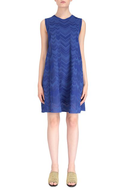 M MISSONI Dress Bright blue Woman - Back
